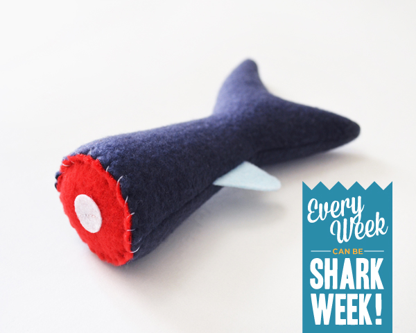 Severed Shark Tail Catnip Toy