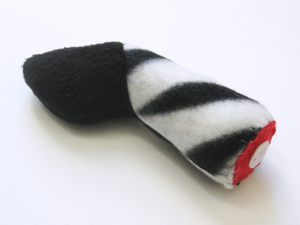 Severed Zebra Leg Catnip Toy